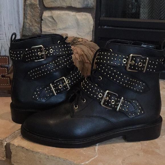 98f5506e82b Vince Camuto 'Aurora' Black Studded Boots 7B NWT NWT